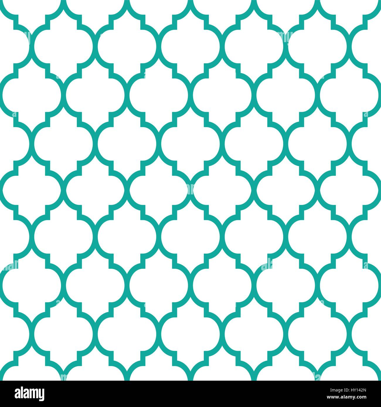 Vector of moroccan tile seamless pattern tile for design tile - Moroccan Tiles Design Seamless Turqoise Pattern Geometric Background