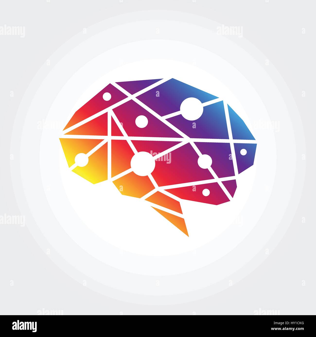 Brain symbol illustration abstract polygon design stock vector art brain symbol illustration abstract polygon design biocorpaavc Images
