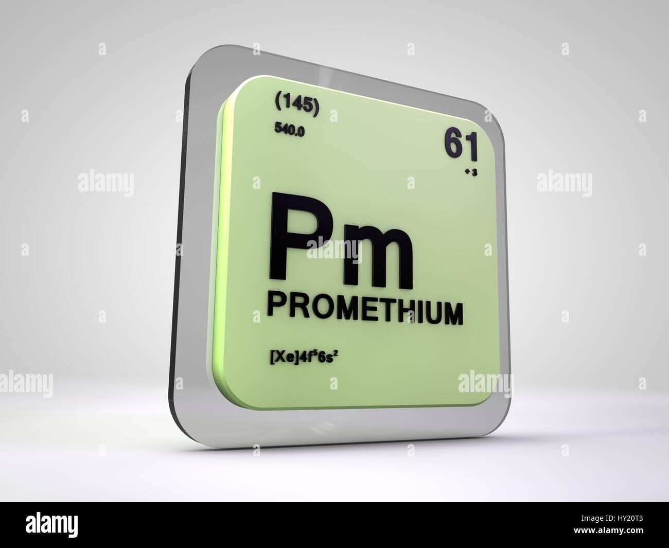 Promethium pm chemical element periodic table 3d render stock stock photo promethium pm chemical element periodic table 3d render gamestrikefo Images