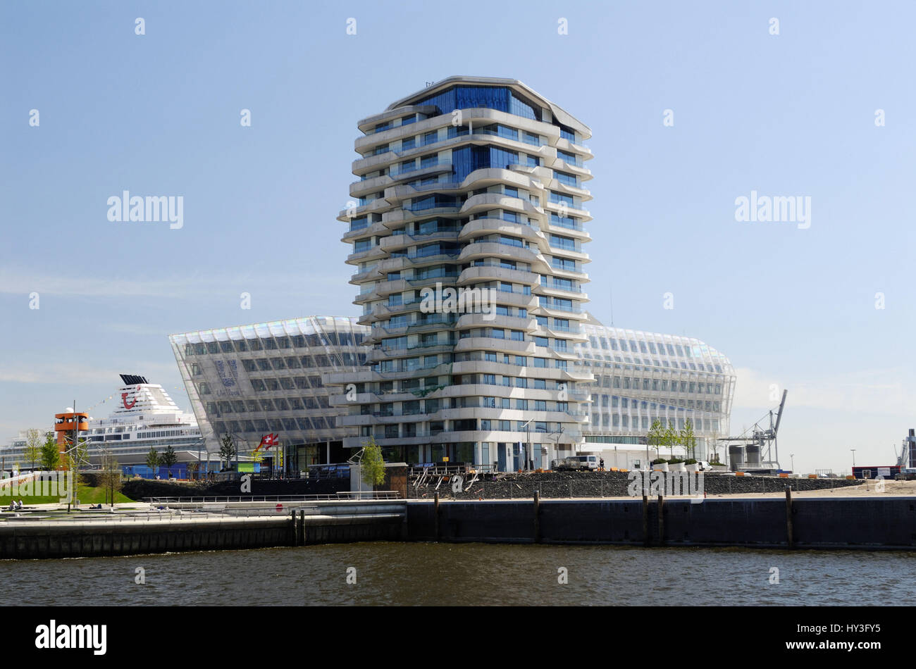 Hamburg Marco Polo Tower the residential tower marco polo tower in the quay in the