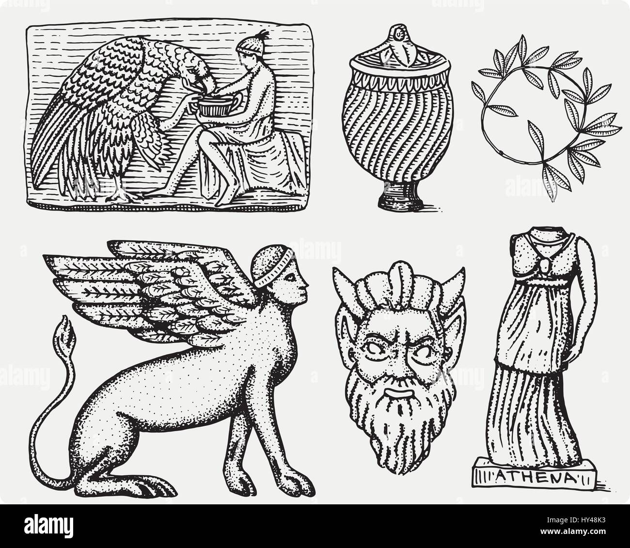 Ancient greece antique symbols ganymede and eagle anphora vase ancient greece antique symbols ganymede and eagle anphora vase athena statue and satyr biocorpaavc