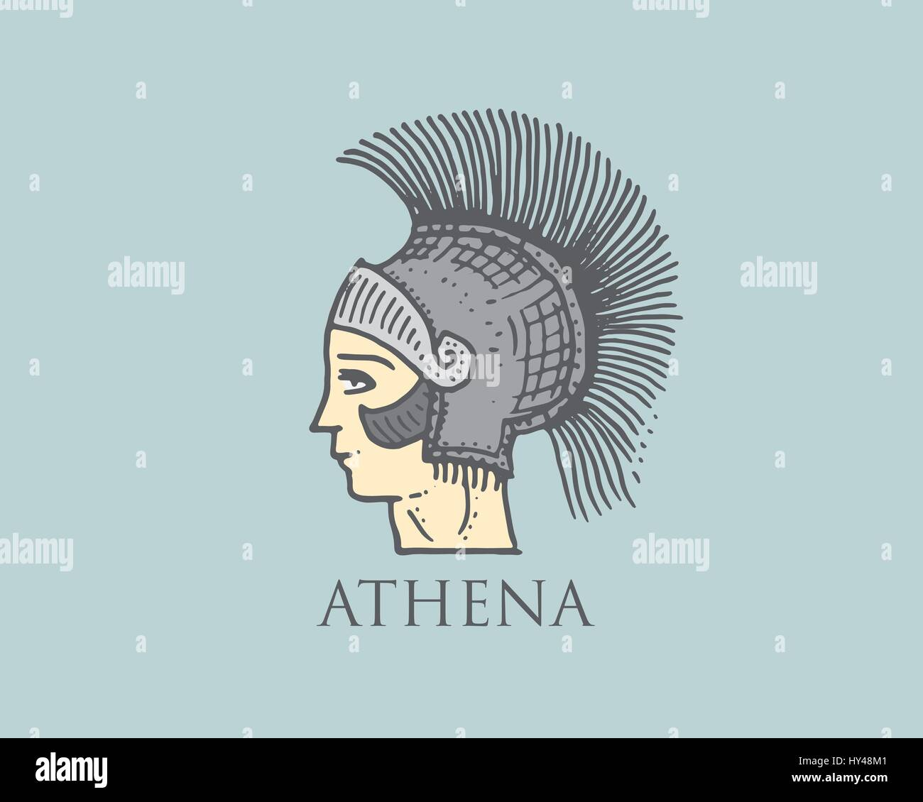 In greek mythology athena was the goddess of war stock photos in godness athena logo ancient greece antique symbol vintage engraved hand drawn in sketch or biocorpaavc