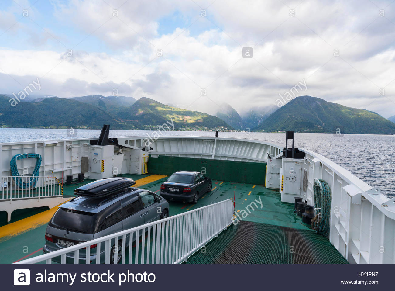 Car ferries sognefjord norway - Ferry Across The Sognefjord In Vangsnes Norway Scandinavia Europe