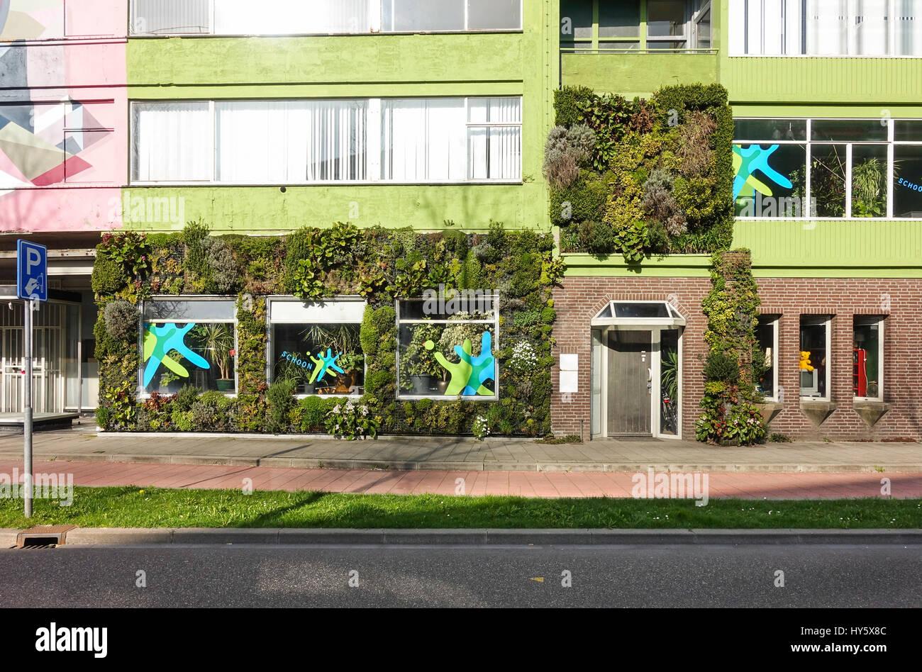 Design house heerlen - Stock Photo Walls Of Company Covered With Plants Living Wall Heerlen Netherlands