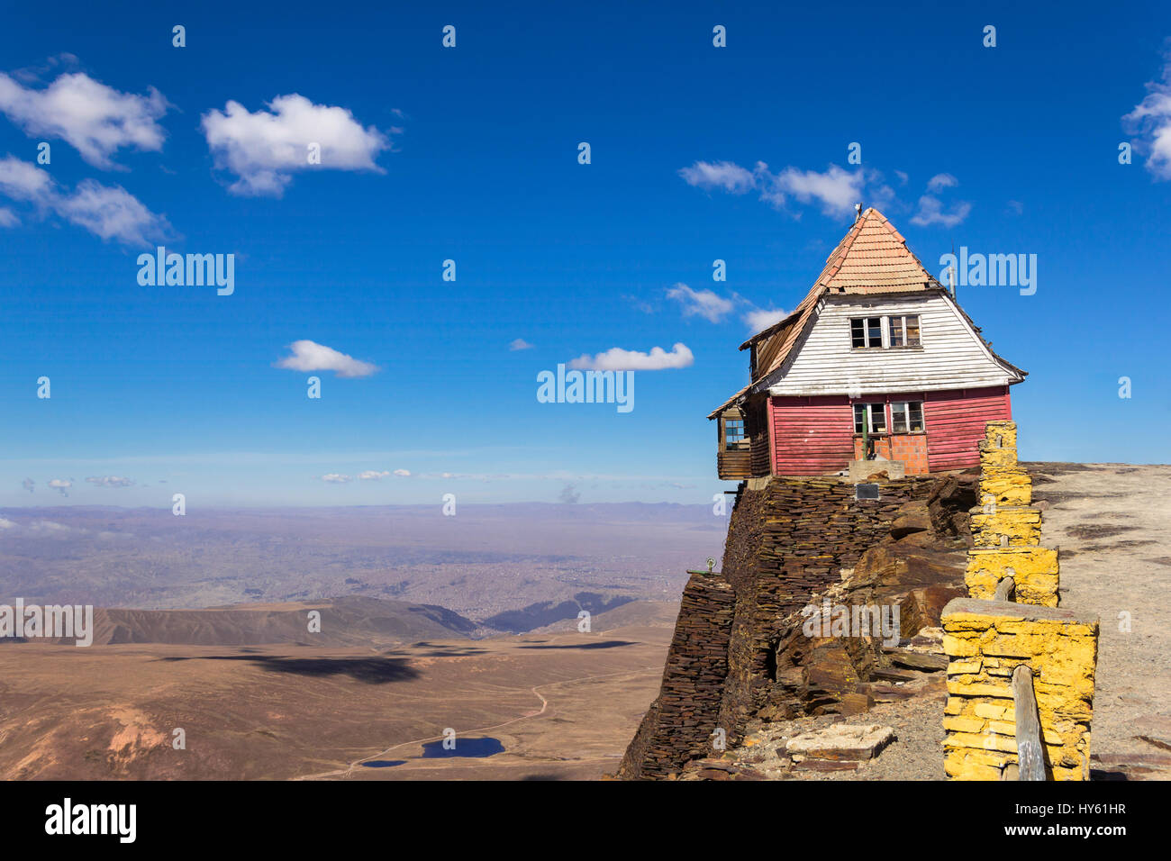 Old house hanging on a cliff isolated home on top of the for House on a mountain