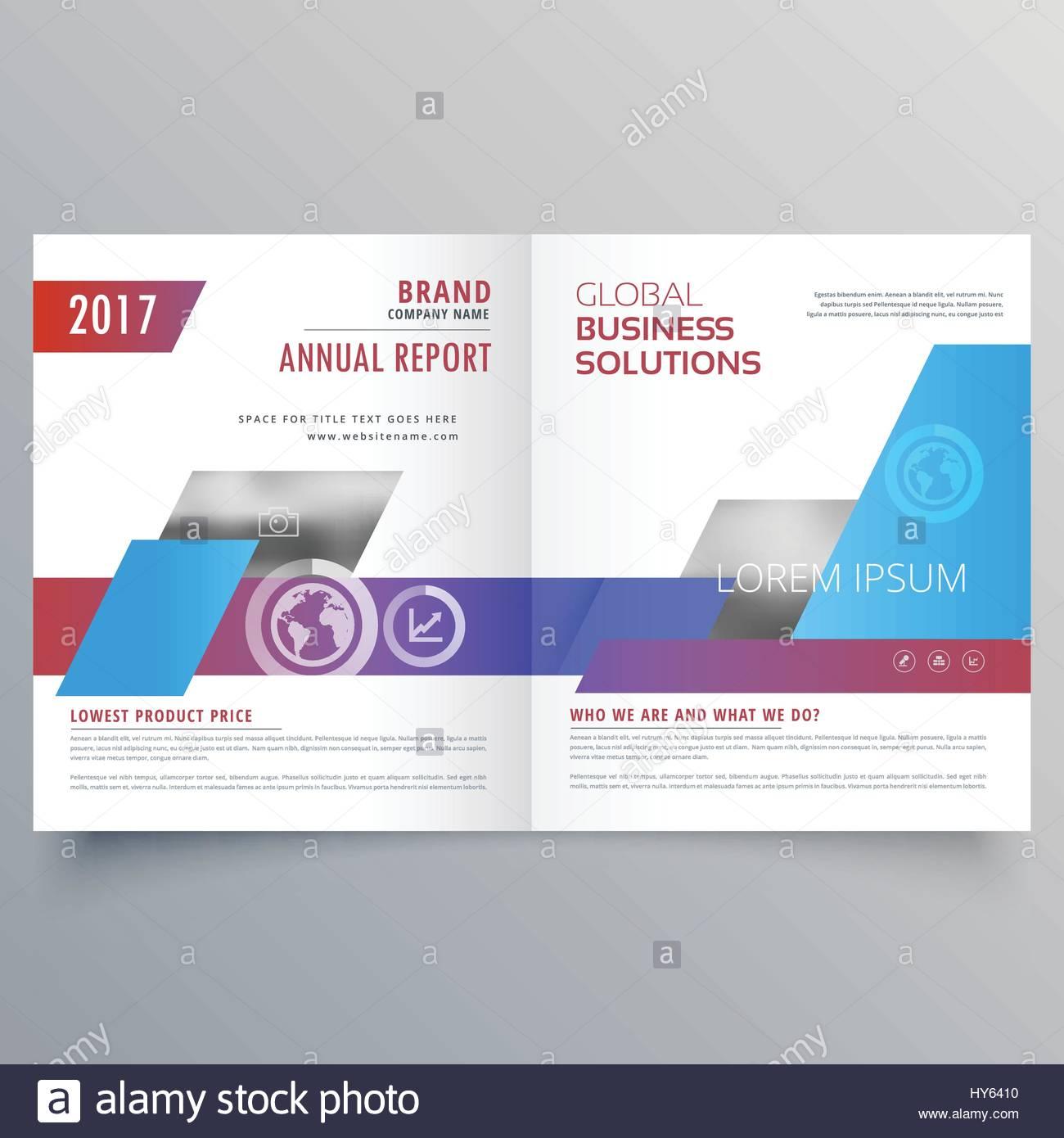 Modern Bifold Brochure Design Template Business Magazine Cover