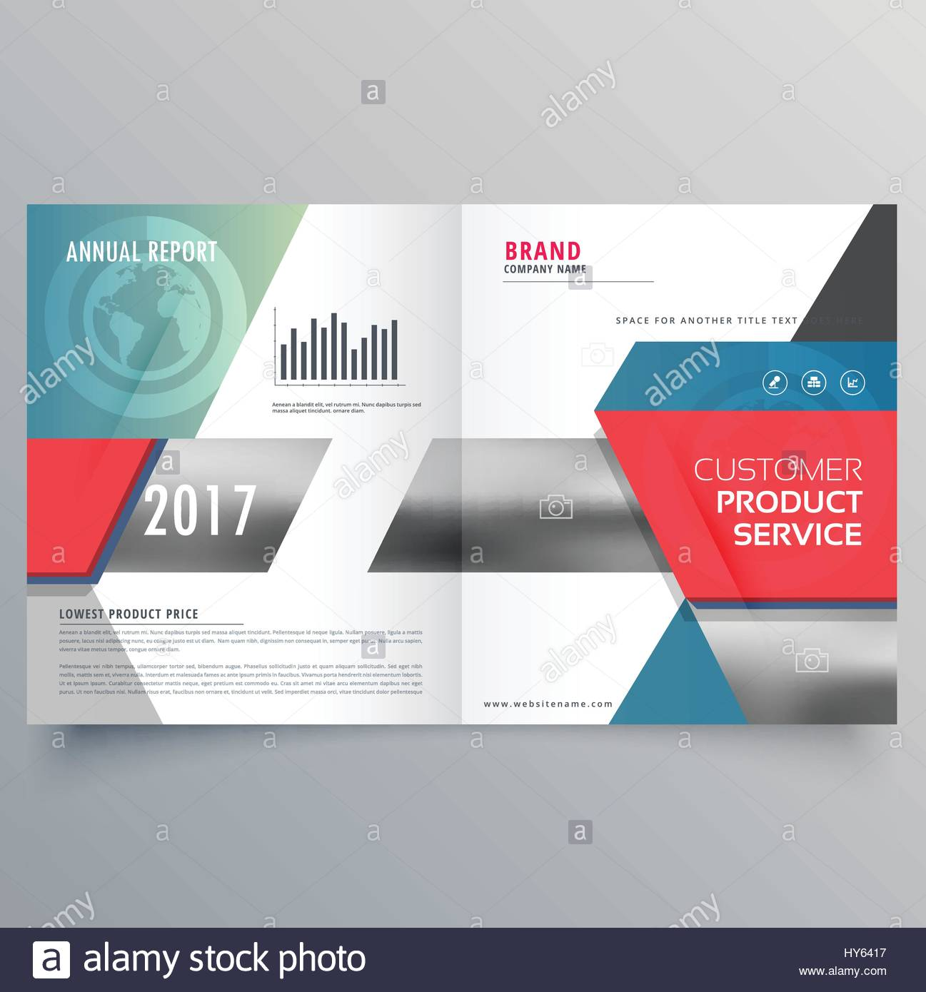 Modern Creative Business Magazine Cover Or Bifold Brochure - Modern brochure template