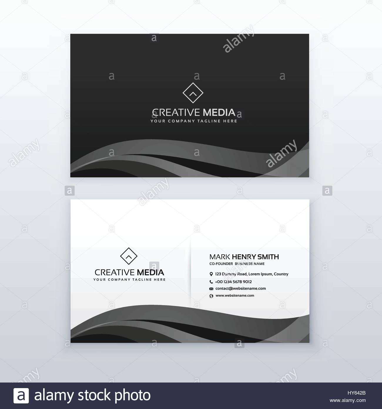 Modern professional dark business card design template in black modern professional dark business card design template in black and white magicingreecefo Gallery