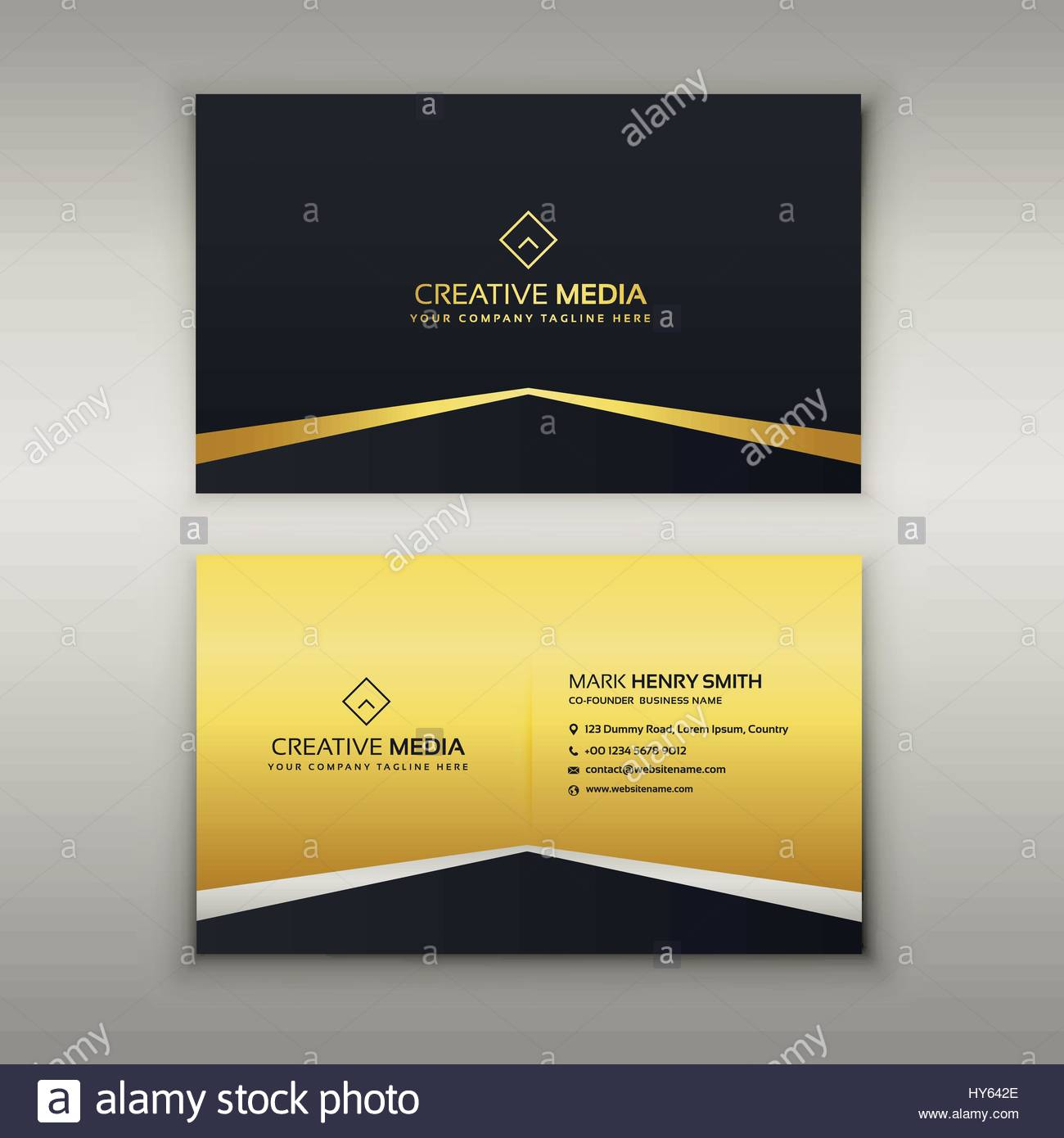 Luxury Business Card Design Template Stock Vector Art - Business card design templates