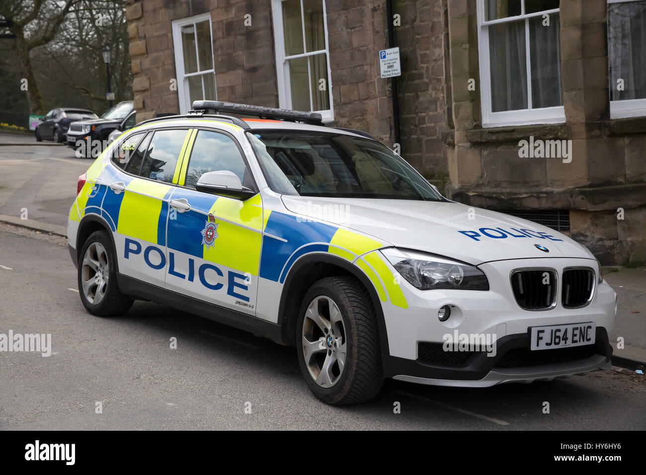 BMW Police Car Parked In Buxton Derbyshire