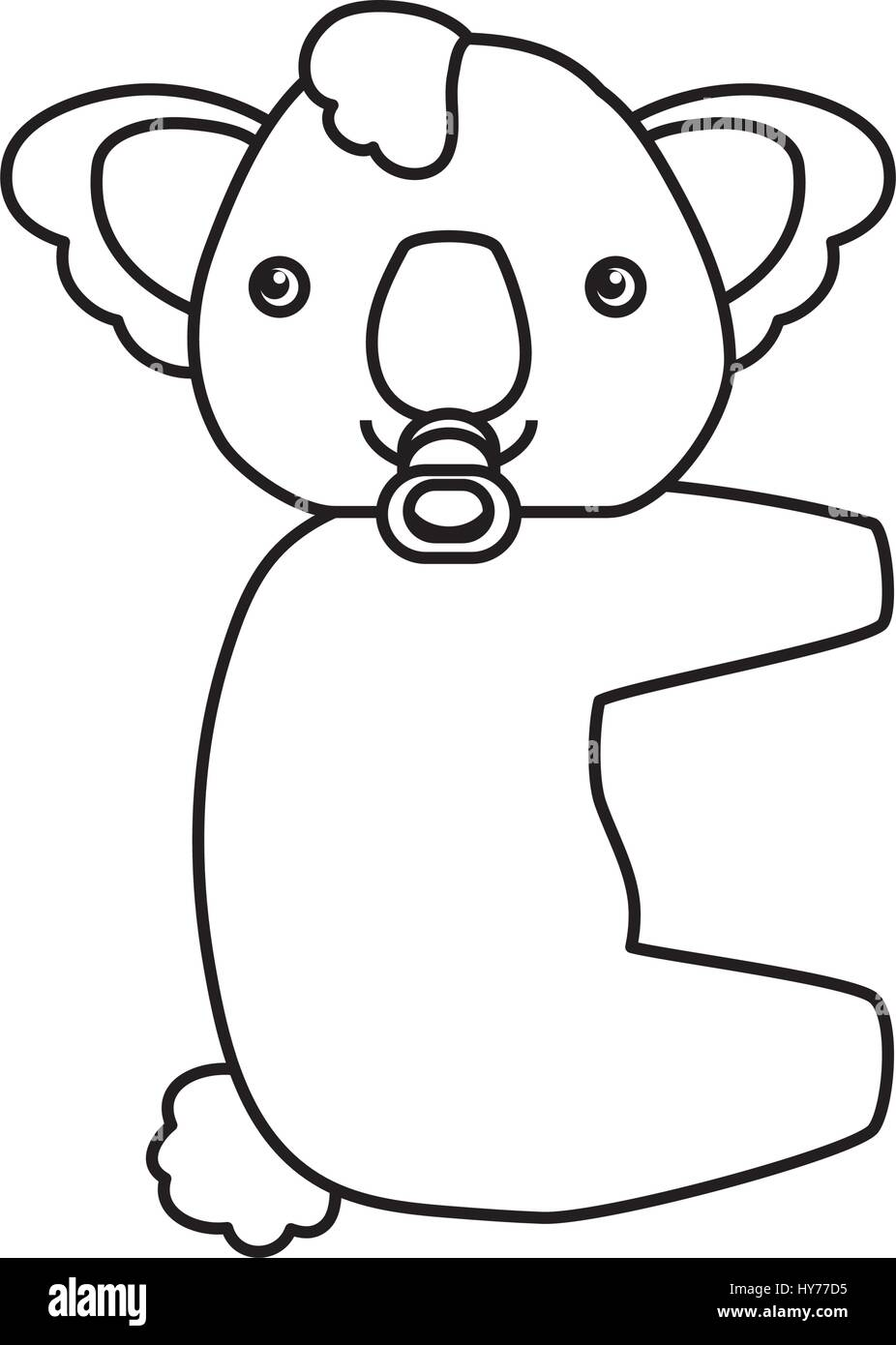 baby koala cartoon animal vector icon illustration stock vector
