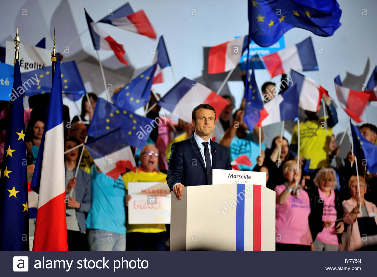 France elections 2017 live - Marseille France 1st Apr 2017 French Presidential Election Candidate For The En