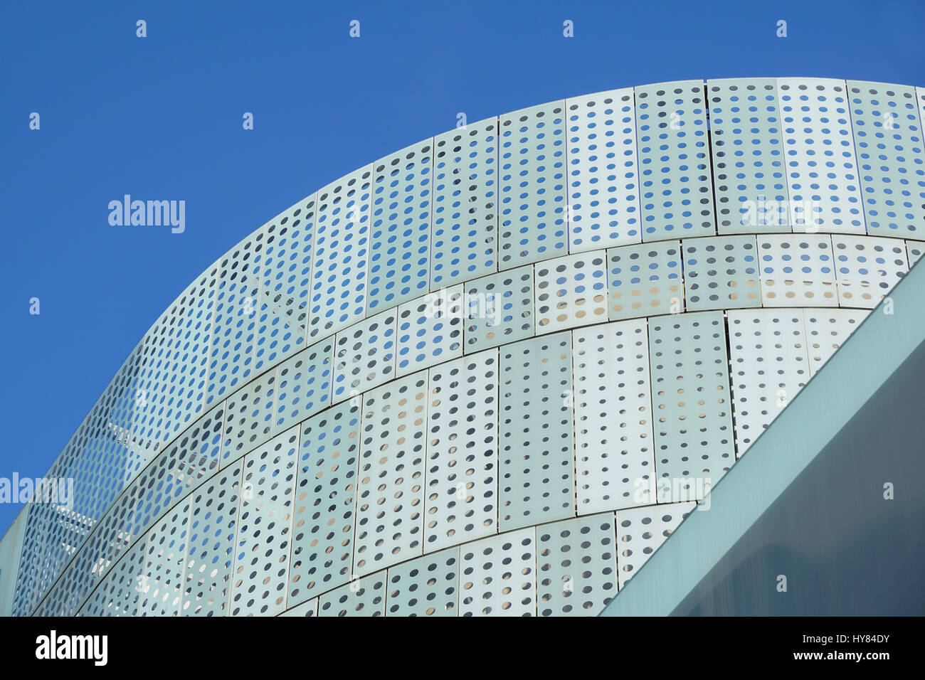 modern design office building with glass panel roof Stock Photo