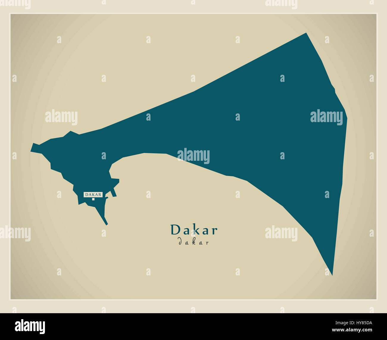Modern Map Dakar SN Stock Vector Art Illustration Vector Image