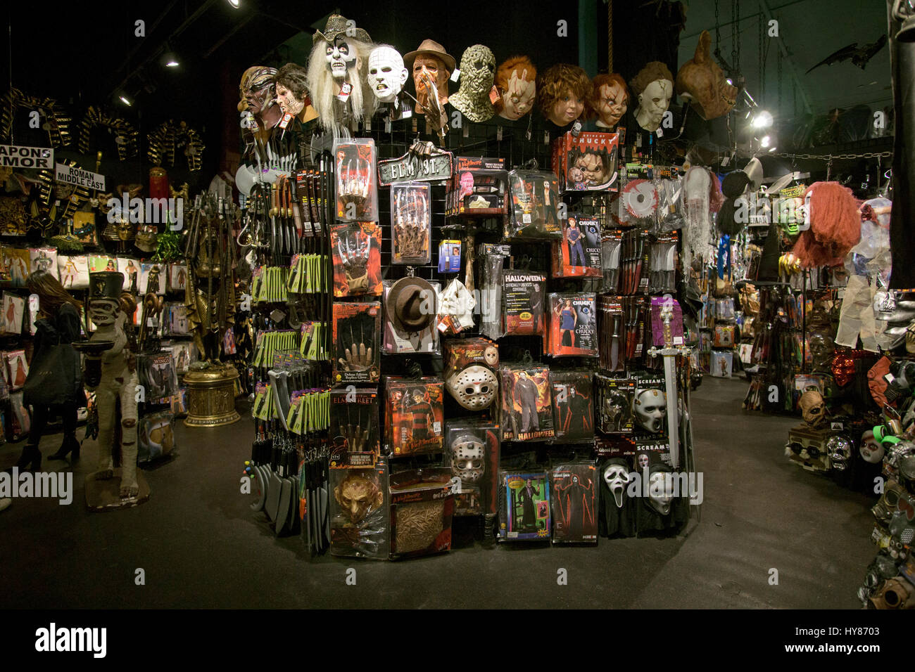 inside the halloween adventure costume shop on broadway in greenwich village manhattan new york city - Halloween Adventure New York