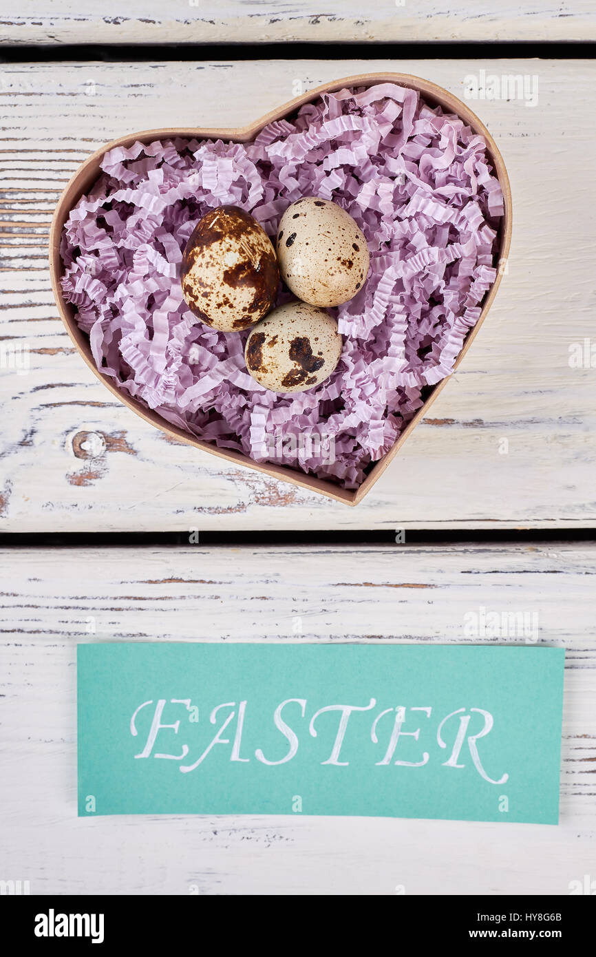 Easter card box with eggs heart shaped box on wood simple easter card box with eggs heart shaped box on wood simple romantic gift ideas negle Images