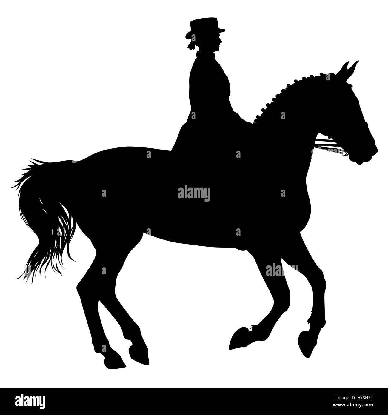 Horse cantering silhouette