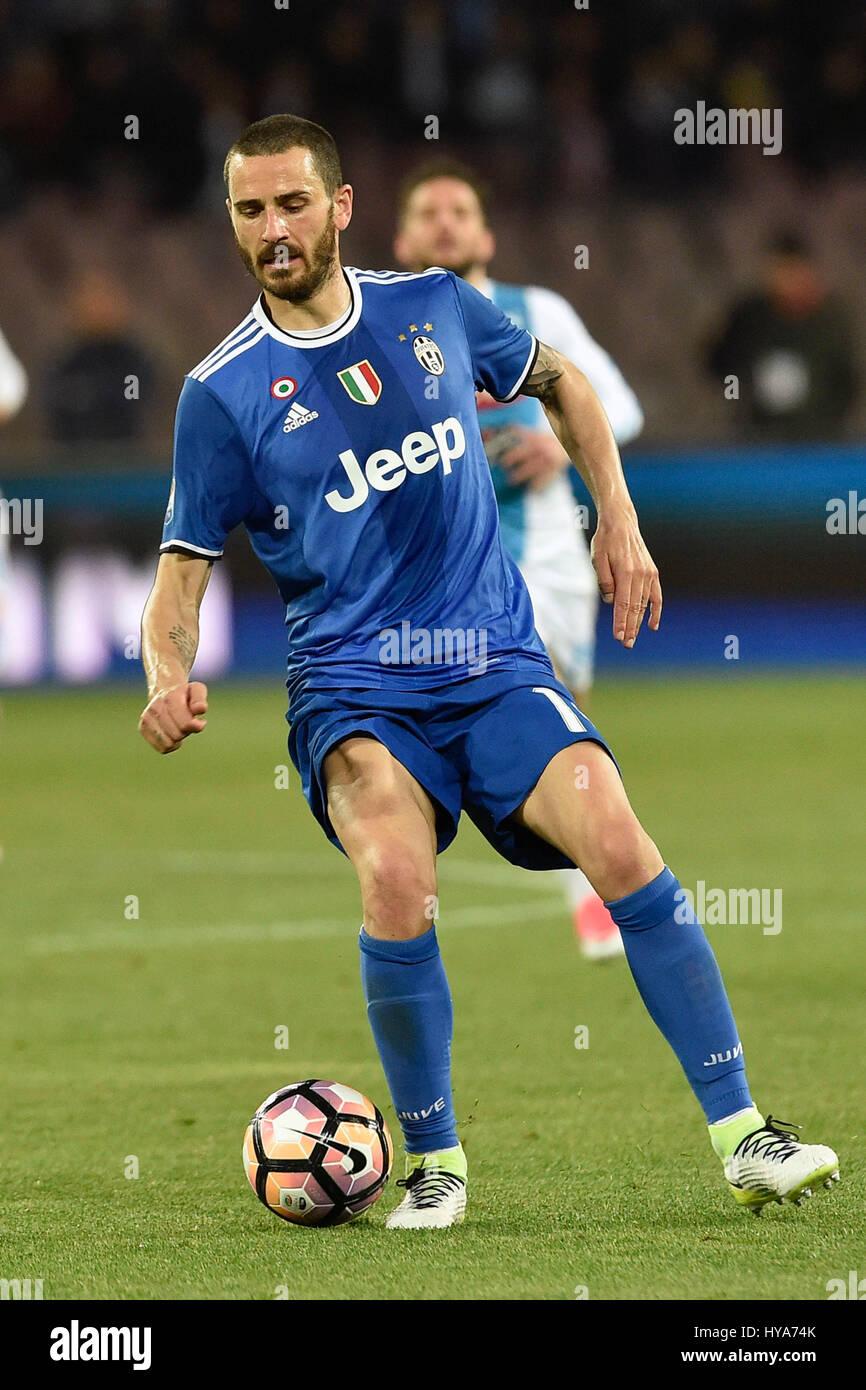 Naples Italy 2nd April 2017 Leonardo Bonucci of Juventus in