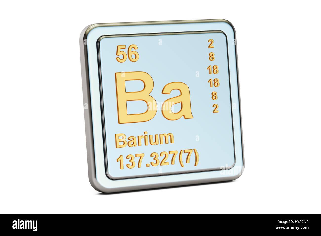 Barium ba chemical element sign 3d rendering isolated on white barium ba chemical element sign 3d rendering isolated on white background biocorpaavc Images