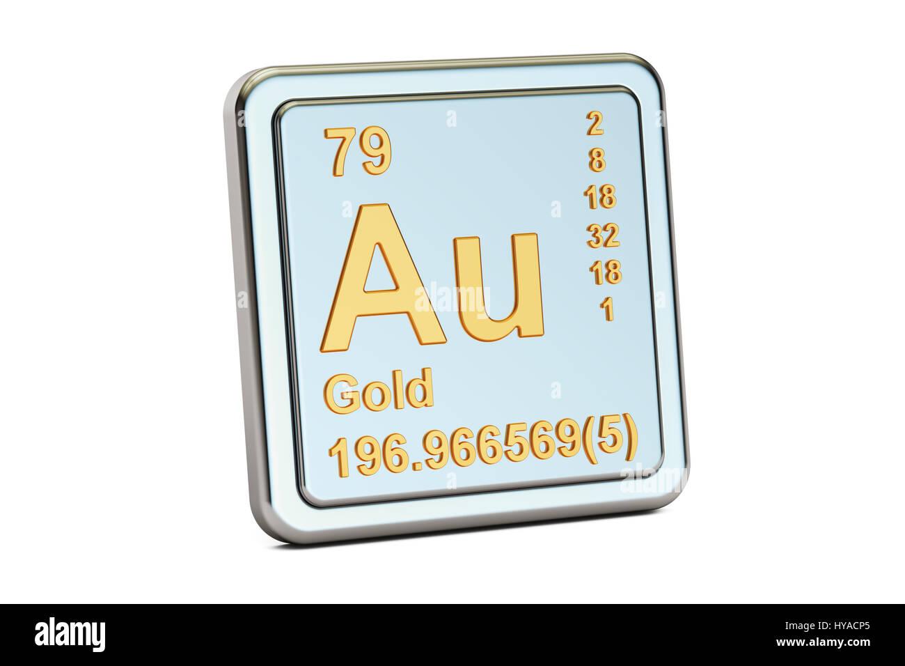 Gold aurum au chemical element sign 3d rendering isolated on gold aurum au chemical element sign 3d rendering isolated on white background gamestrikefo Image collections
