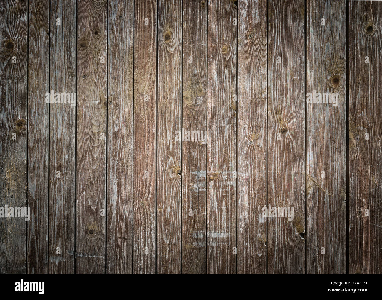 Rustic Wood Planks Background With Nice Vignetting Stock