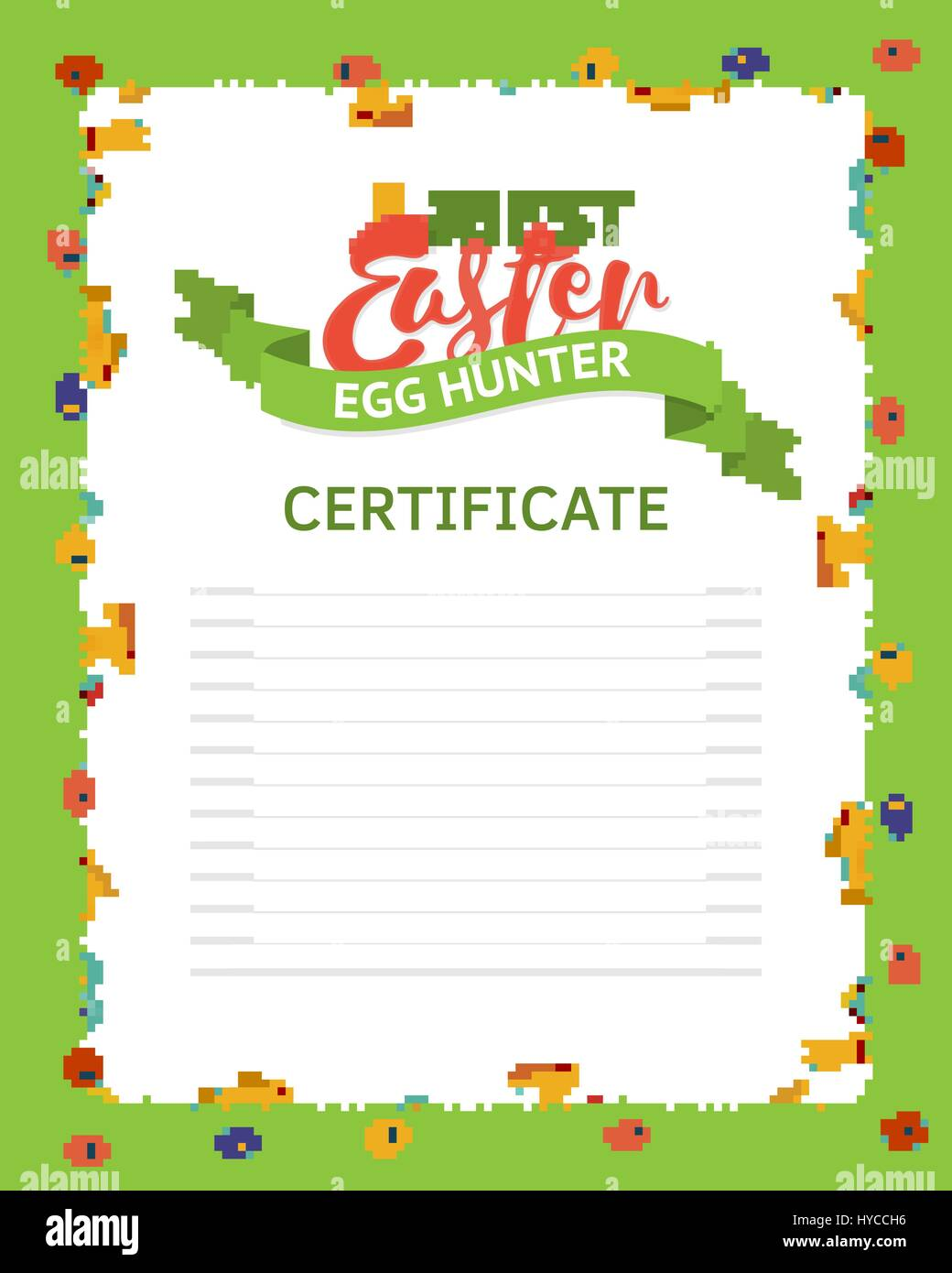 The best easter egg hunter certificate template a frame made of the best easter egg hunter certificate template a frame made of rabbits eggs and flowers in the grass frame for the award of a certificate yadclub Images