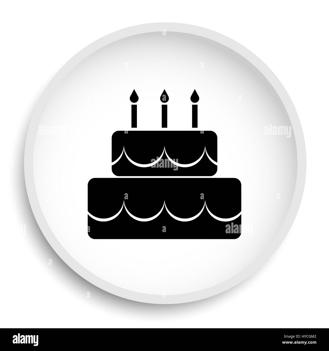 Cake icon cake website button on white background stock photo cake icon cake website button on white background buycottarizona