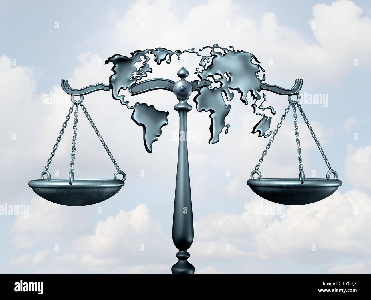 International law and global legal system concept as a