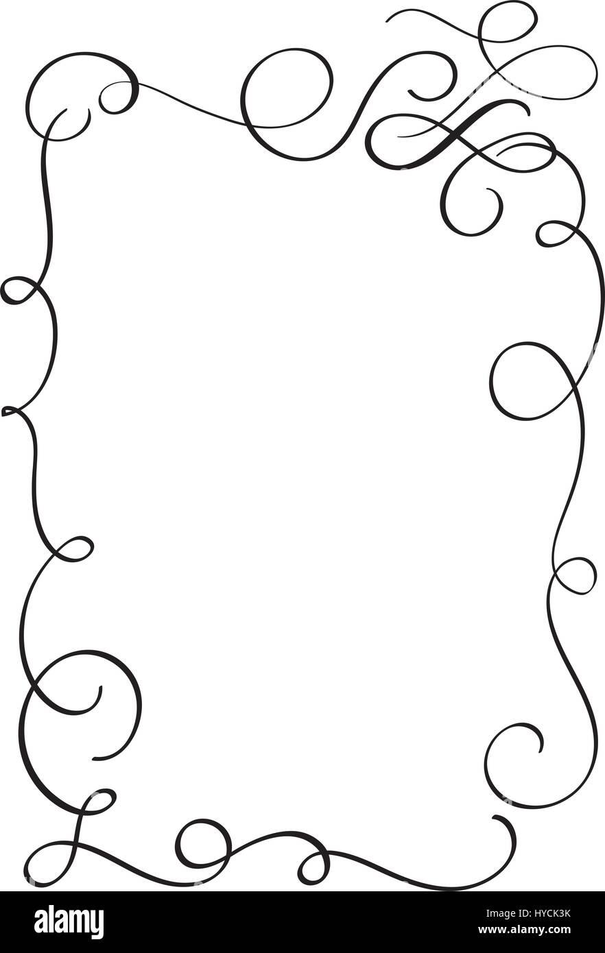 Calligraphy borders vector pixshark images