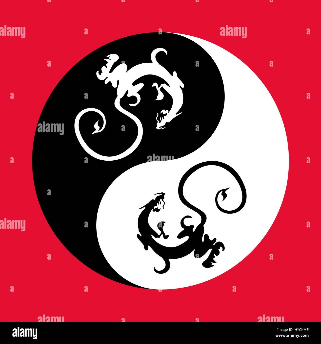 Dragons in the shape of the yin yang symbol of harmony and balance dragons in the shape of the yin yang symbol of harmony and balance buycottarizona Choice Image
