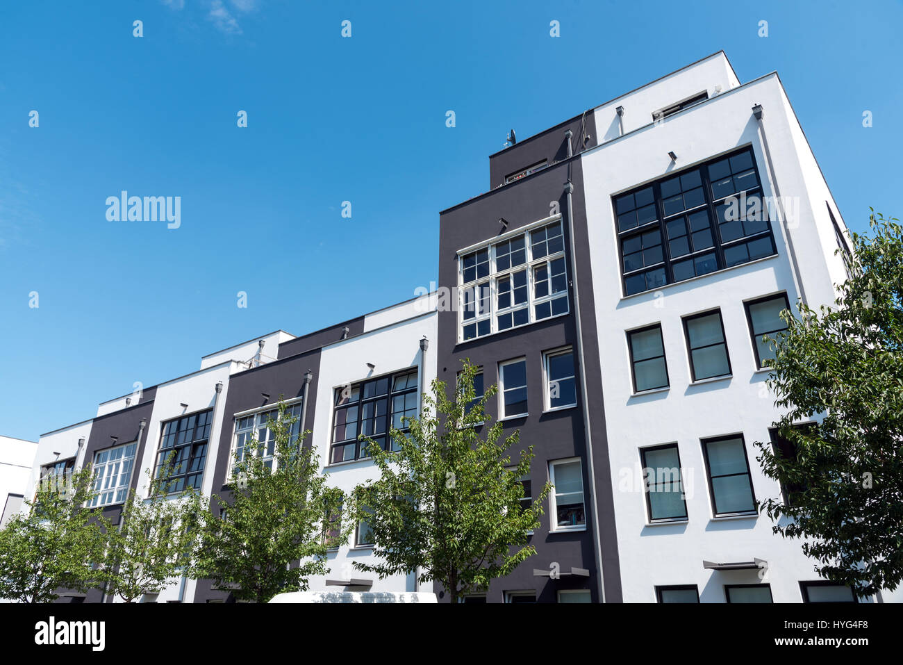 Modern Row Houses Seen In Berlin Germany Stock Photo