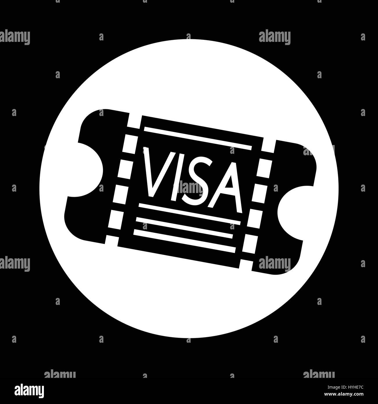 Entrance visa icon stock vector art illustration vector image entrance visa icon biocorpaavc Choice Image