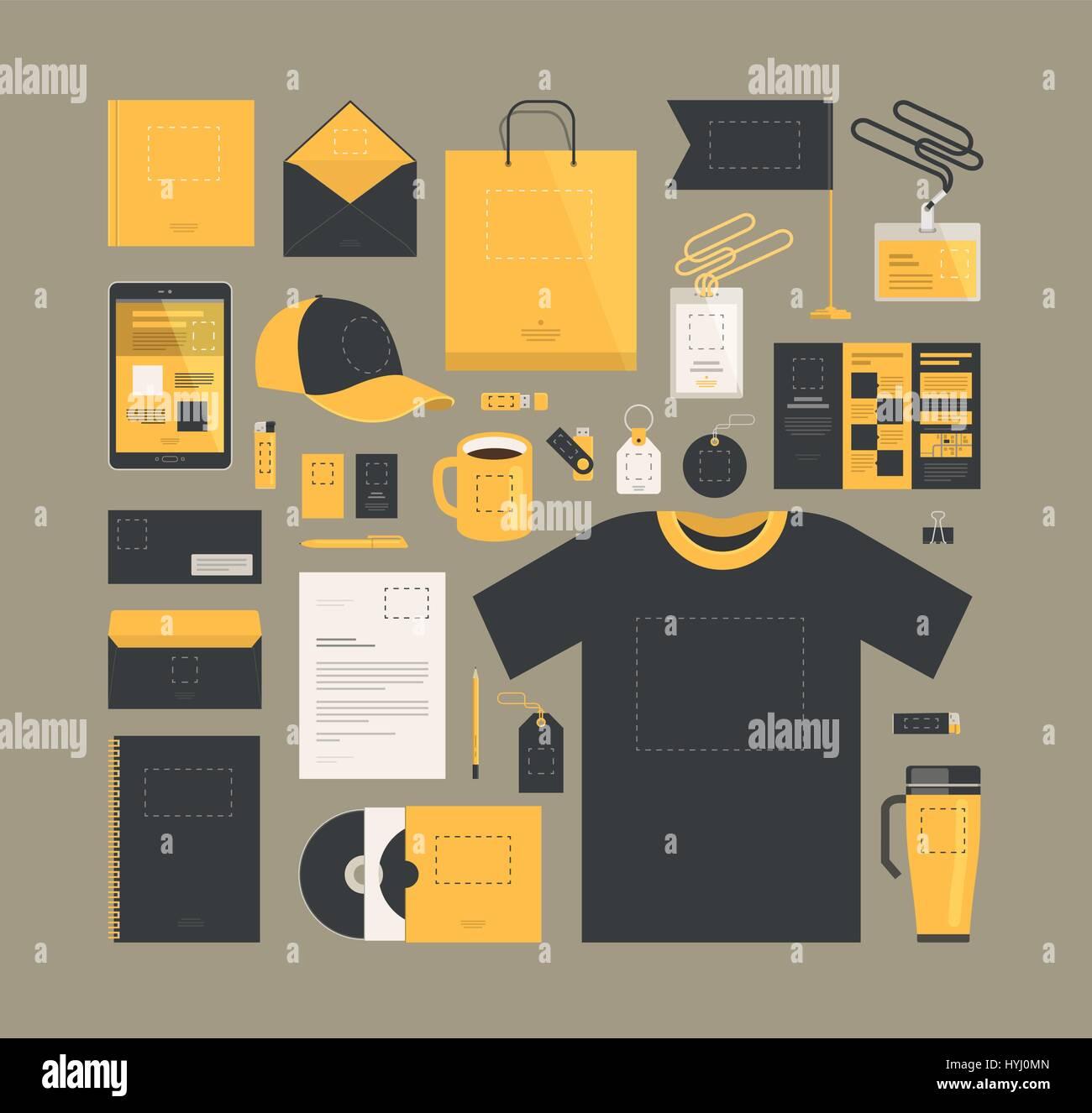 Business marketing. Corporate identity design, template. Brand ...