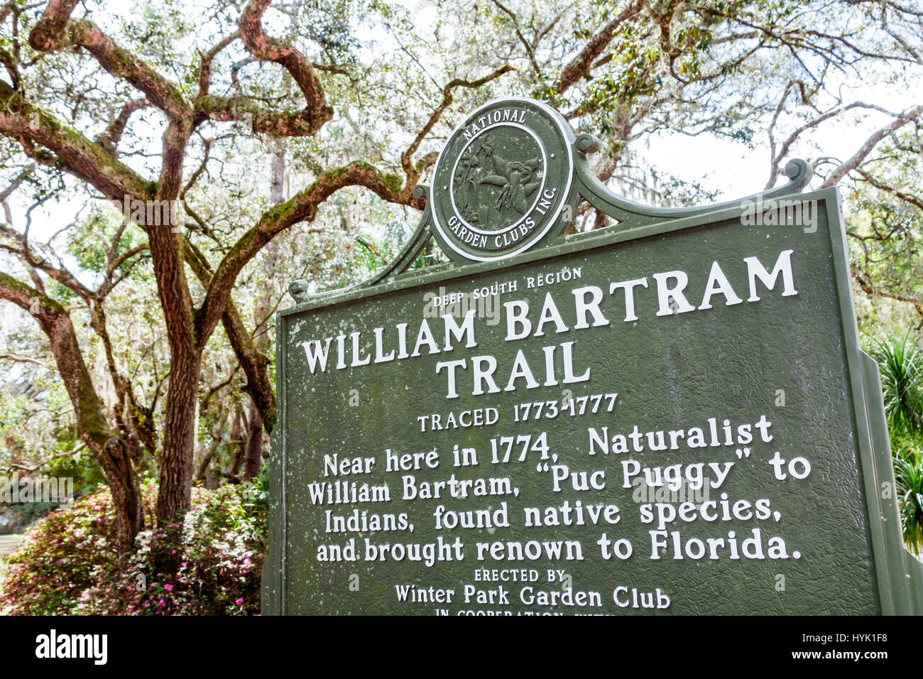 Exceptionnel Winter Park Orlando Florida Mead Botanical Garden Winter Park Garden Club  William Bartram Trail Historical Marker Sign
