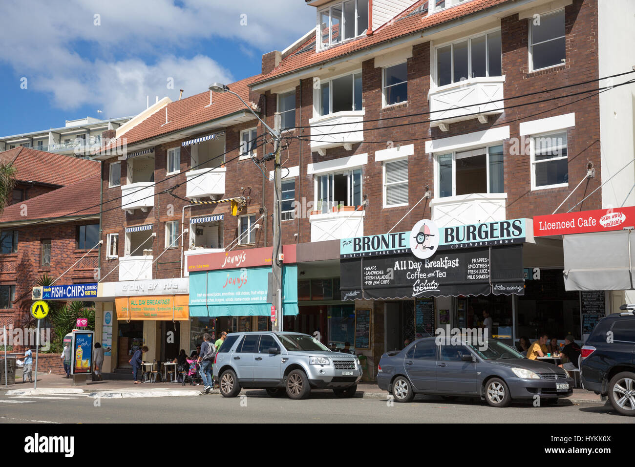 Shops And Cafes In Bronte Beachsuburb Of Sydneynew South Wales Australia