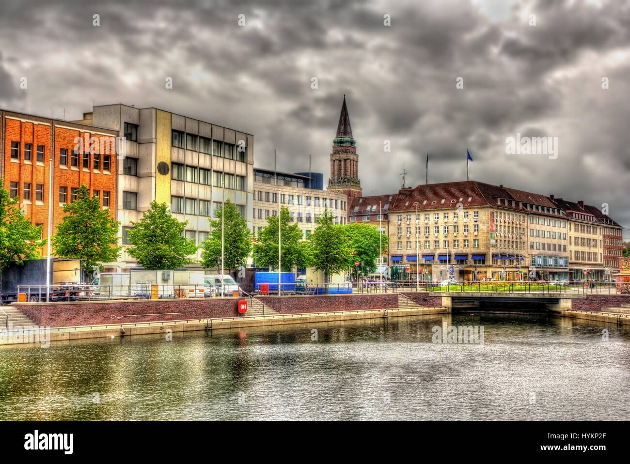 view of the city center of kiel germany stock photo royalty free image 137502695 alamy. Black Bedroom Furniture Sets. Home Design Ideas