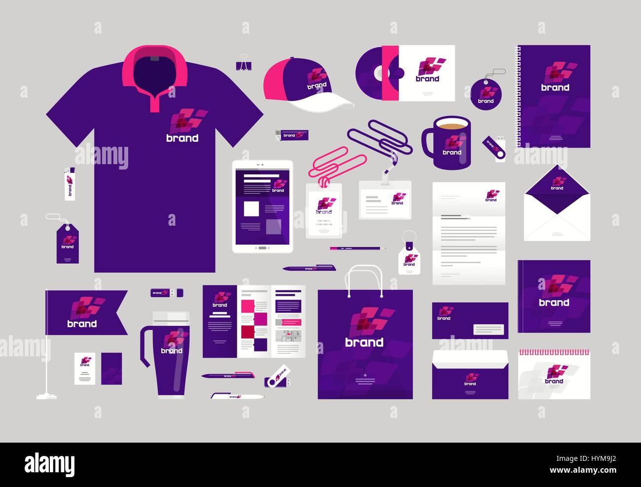 Business design. Corporate identity template. Logo, label, brand ...