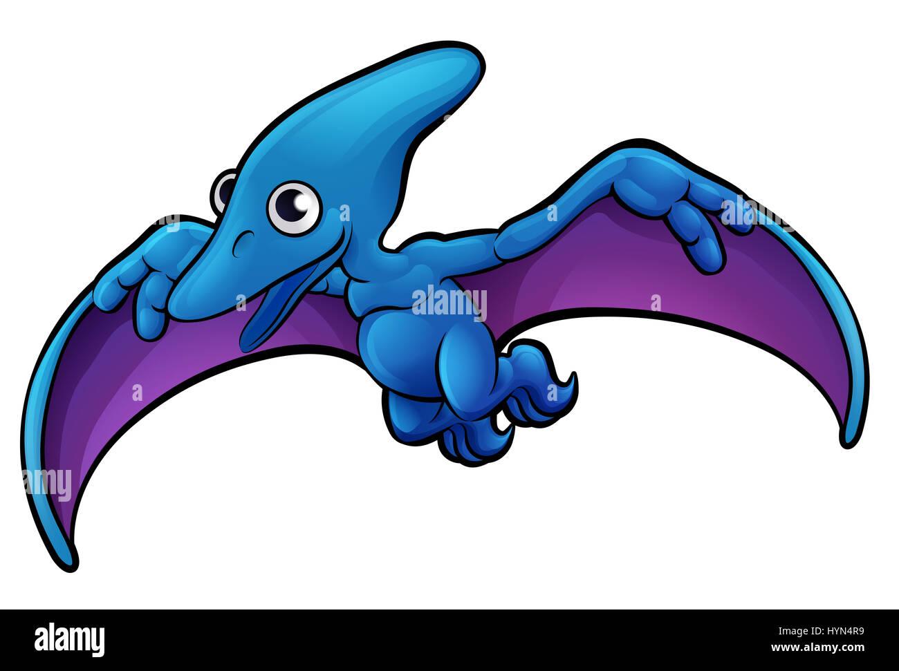 a pterodactyl dinosaur animals cartoon character stock