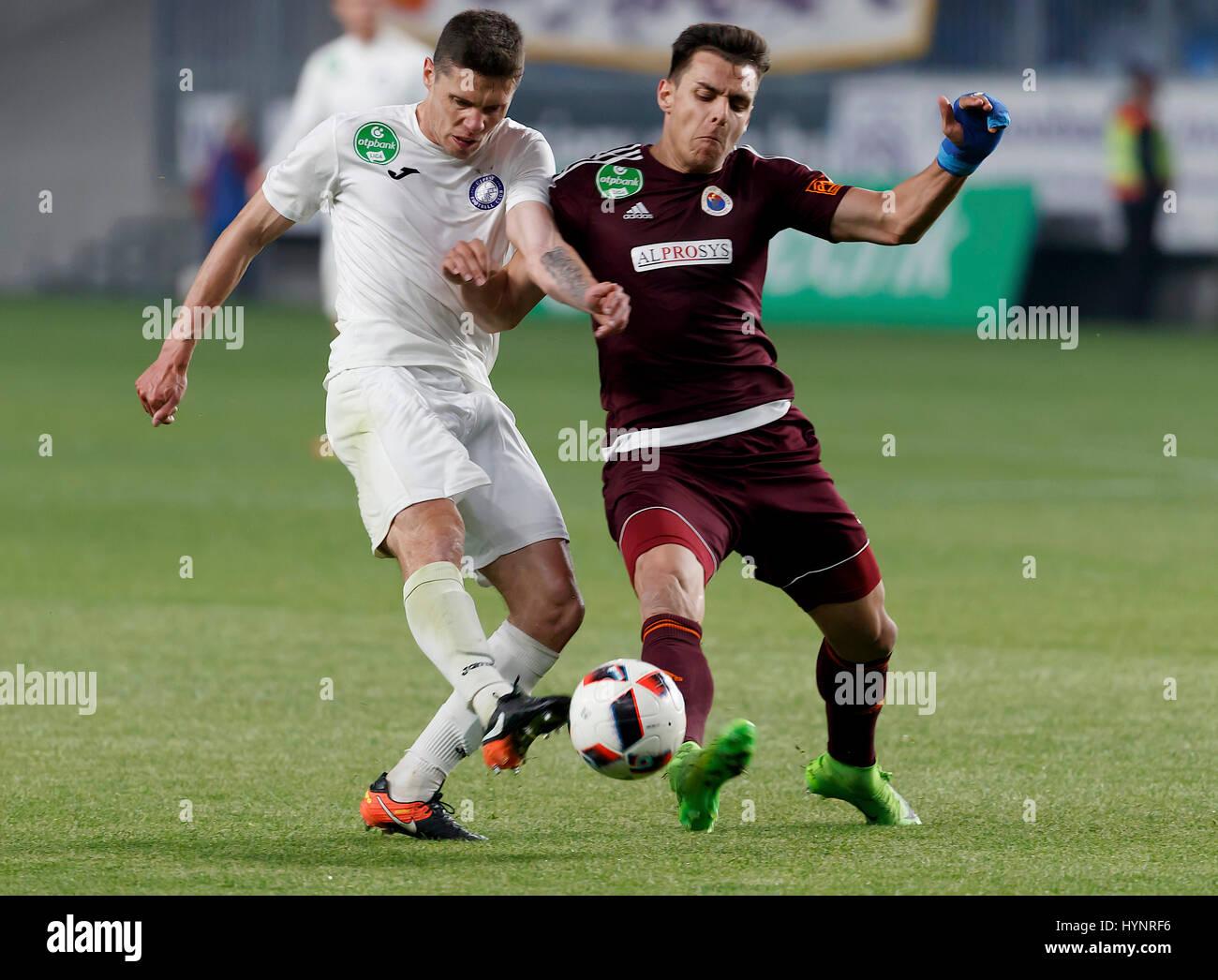 Budapest Hungary 05th Apr 2017 Balint Gaal R of Vasas FC