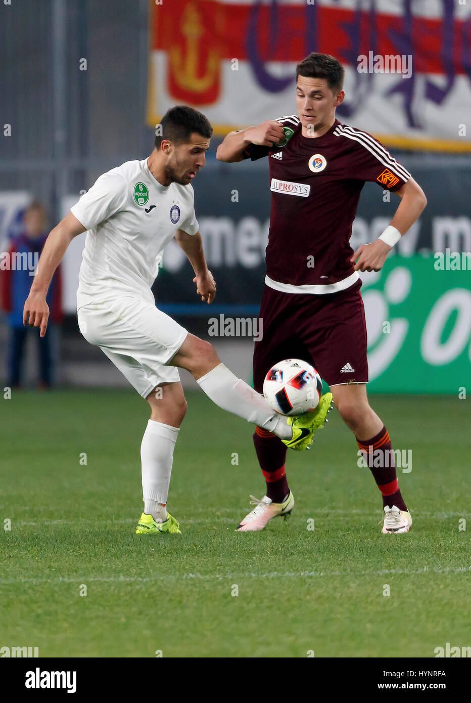 Budapest Hungary 05th Apr 2017 Mate Vida R of Vasas FC