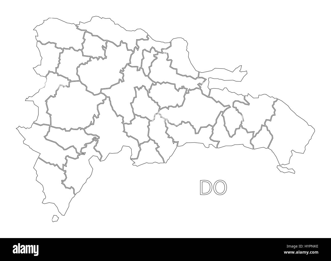 Dominican Republic Outline Silhouette Map Illustration With - Dominican republic map vector
