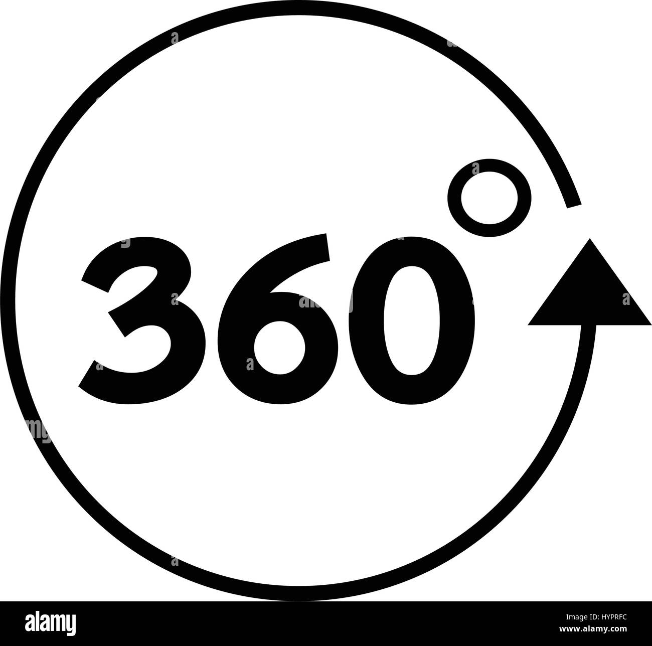 The three degrees black and white stock photos images alamy 360 degree icon stock image biocorpaavc Choice Image