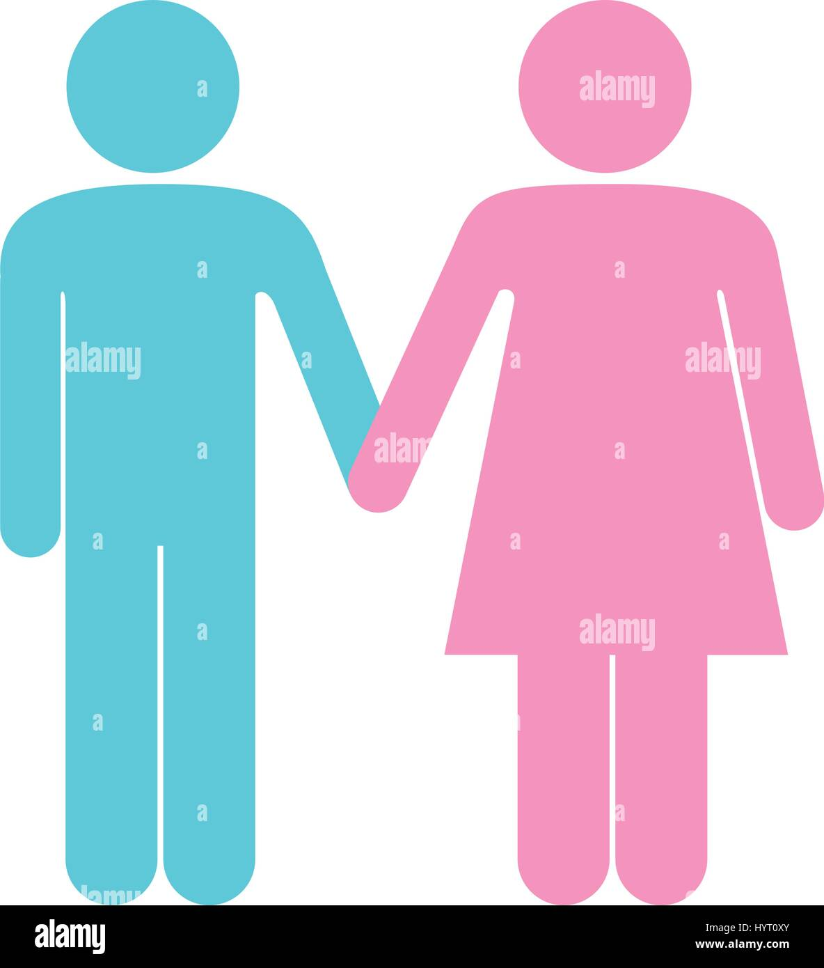 stock vector colorful pictogram silhouette couple holding hands