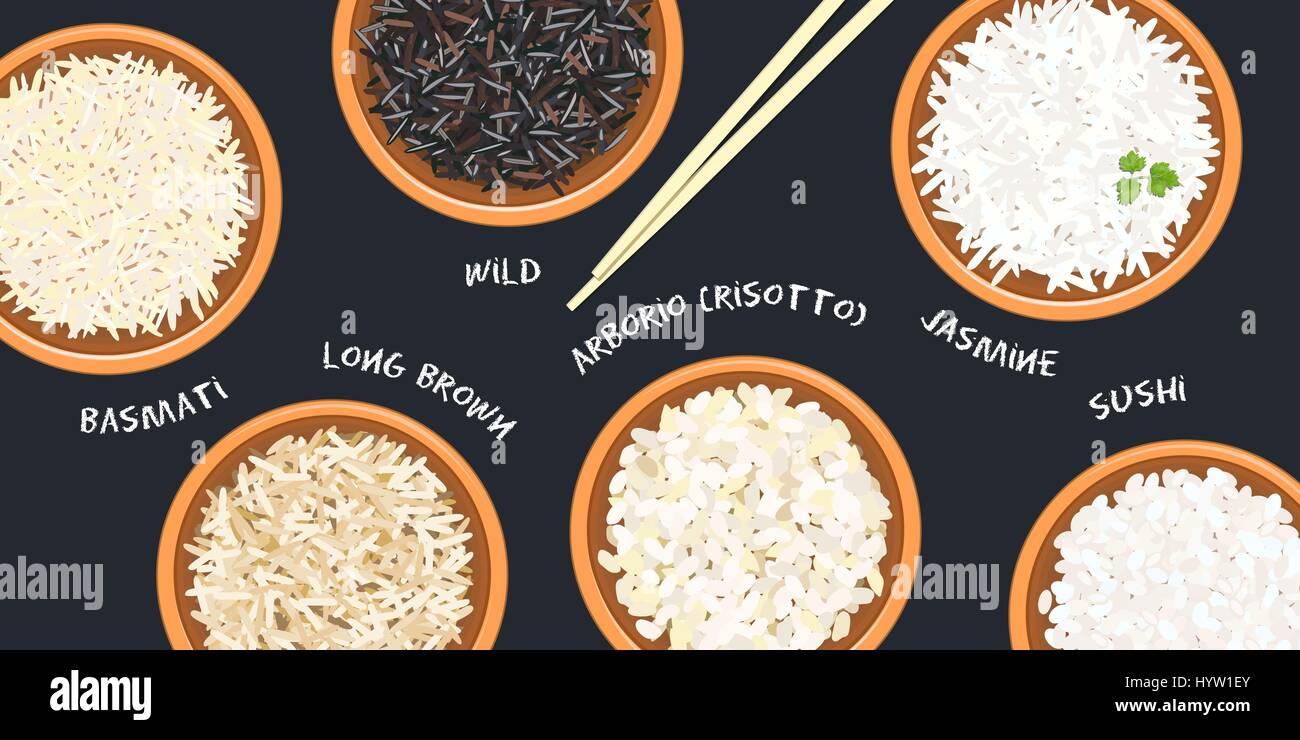 Different Types Of Rice In Pots Basmati Wild Jasmine