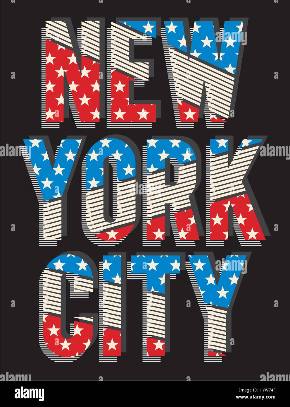 T shirt poster design - Retro New York Typography Design For T Shirt Poster Festival Vector