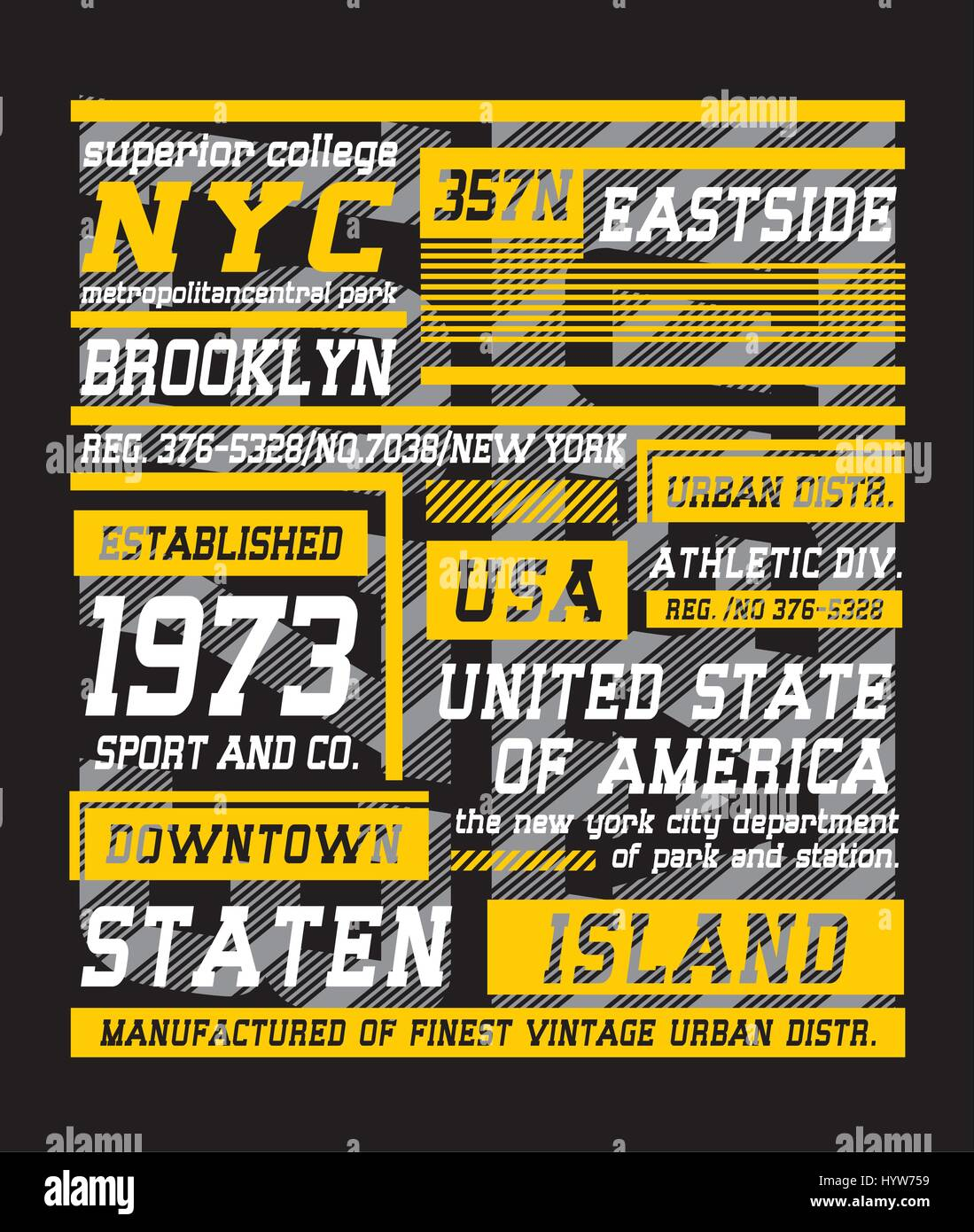 T shirt poster design - Retro New York Brooklyn Typography Design For T Shirt Poster Festival Vector Stock