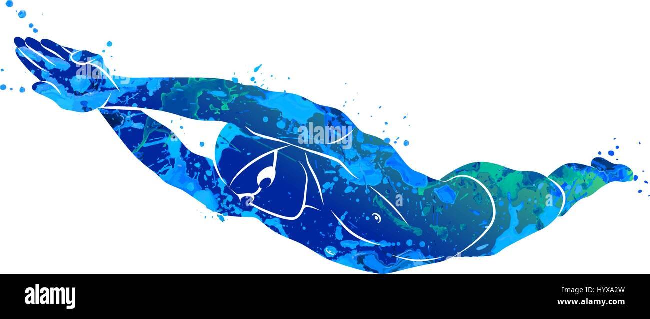 swimming logo sport stock vector art   illustration swim logo free svg swim logo free svg