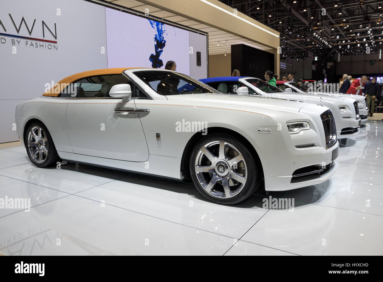 2018 rolls royce dawn. Delighful 2018 GENEVA SWITZERLAND  MARCH 7 2017 New 2018 Rolls Royce Dawn U0027Inspired By  Fashionu0027 Luxury Car Presented At The 87th Geneva International Motor Show For Rolls Royce Dawn C