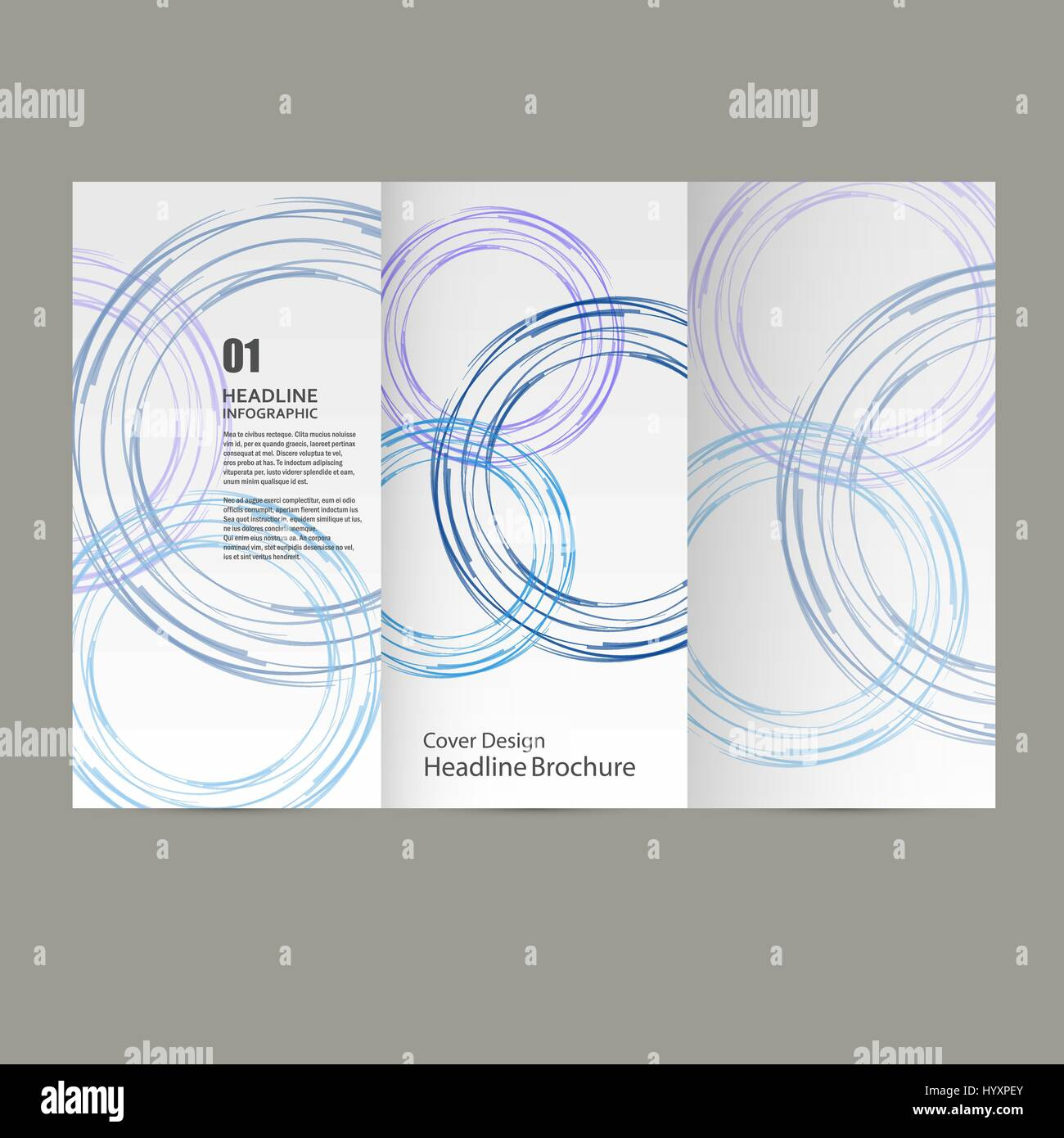 Circle Vector Annual Report Brochure Flyer Template Design Book - Brochure flyer templates
