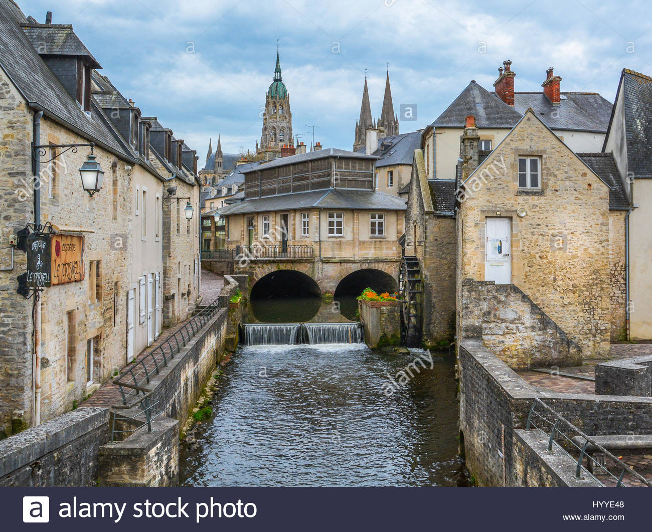 scenic view in bayeux historical town in lower normandy france stock photo royalty free image. Black Bedroom Furniture Sets. Home Design Ideas
